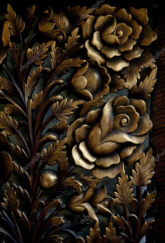 Wood Carving Patterns Stock Photo C Kaowenhua 7177787