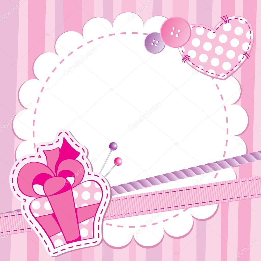 Cute Pink Frame Stock Vector 169 Redcollegiya 7316031