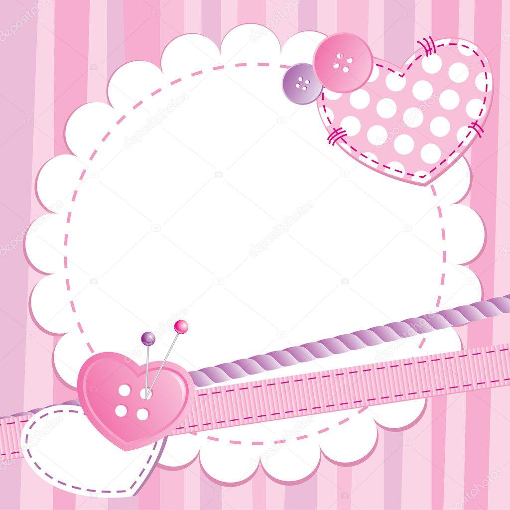 marco rosa Linda — Vector de stock © redcollegiya #7316042