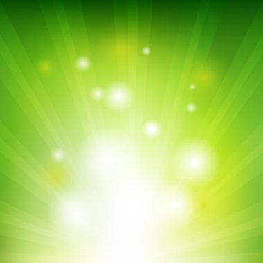 Green Background With Beams