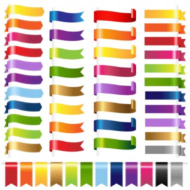 Color Set Web Ribbons