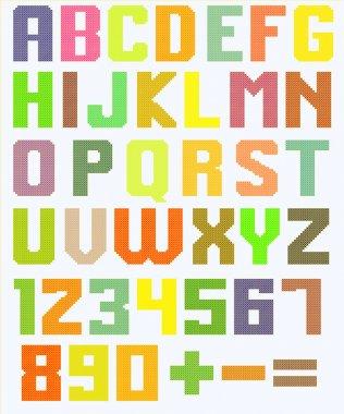 Color latin alphabet