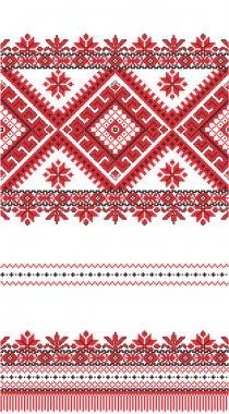 Embroidered good like handmade cross-stitch pattern
