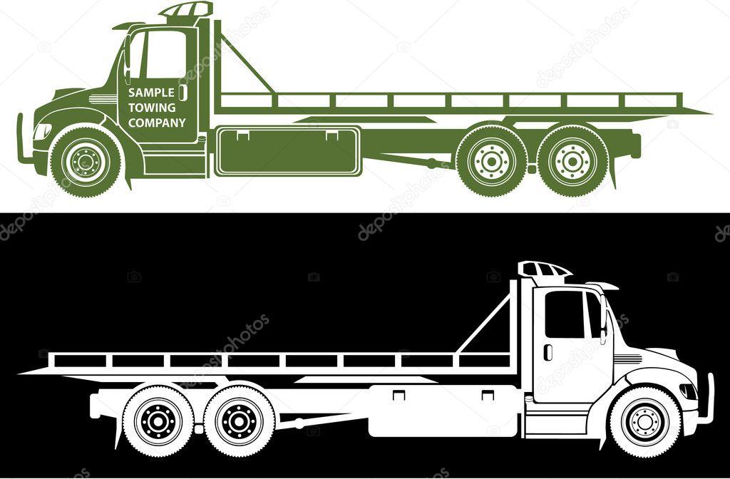 Vector Flatbed Tow Truck Clip Art Flat Bed Tow Truck Stock Vector C Anton Novik 6965435