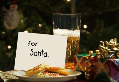 Children left beer and cookies for Santa.