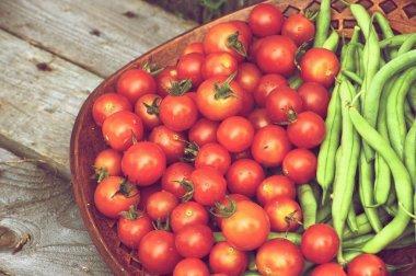 Close up fresh organic vegetables.
