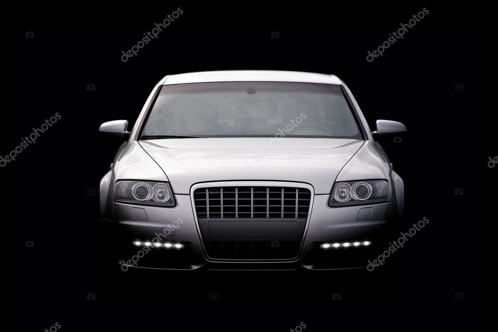 Luxury car isolated