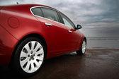Photo Luxury cherry red car