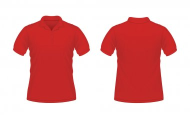 Red men's polo T-shirt