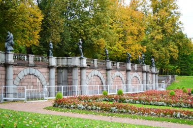 View of park in Pushkin