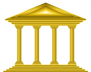 Gold bank icon