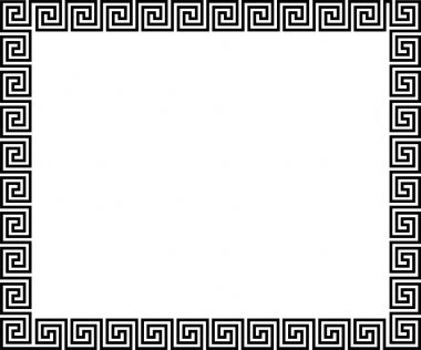 Background with greek ornament