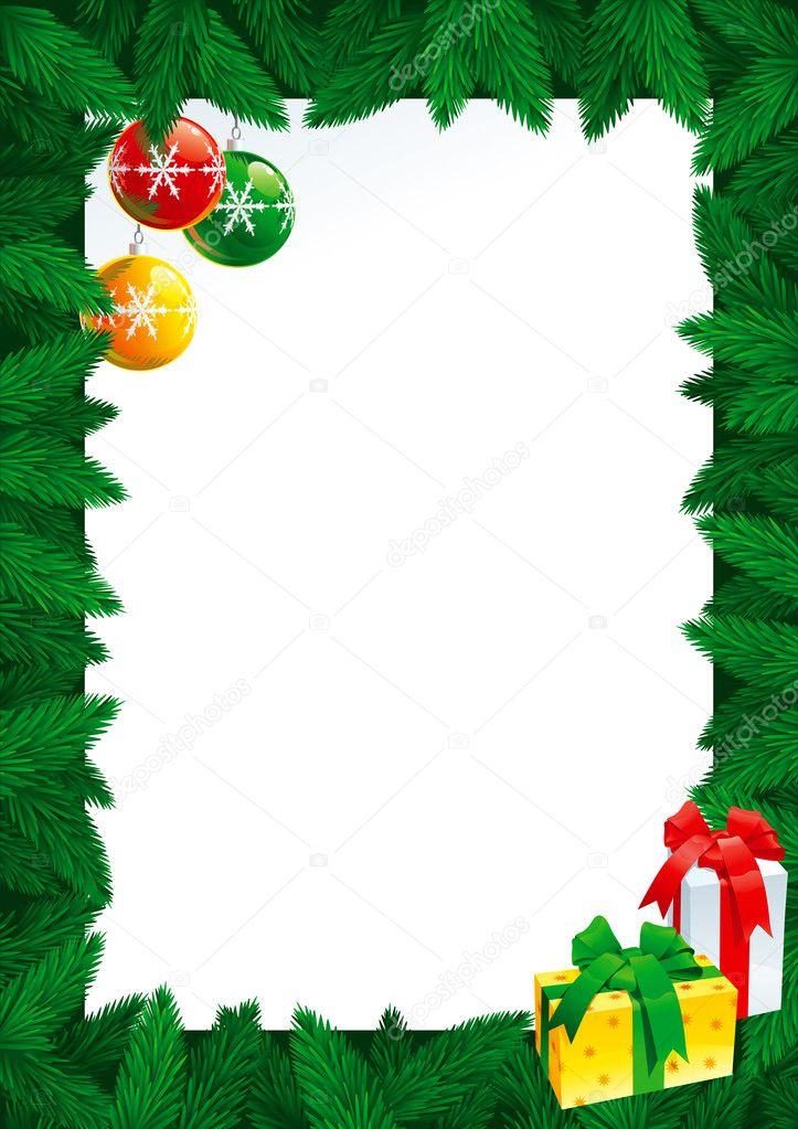 Weihnachtskarte mit leer leer für Ihren text — Stockvektor © song_mi ...