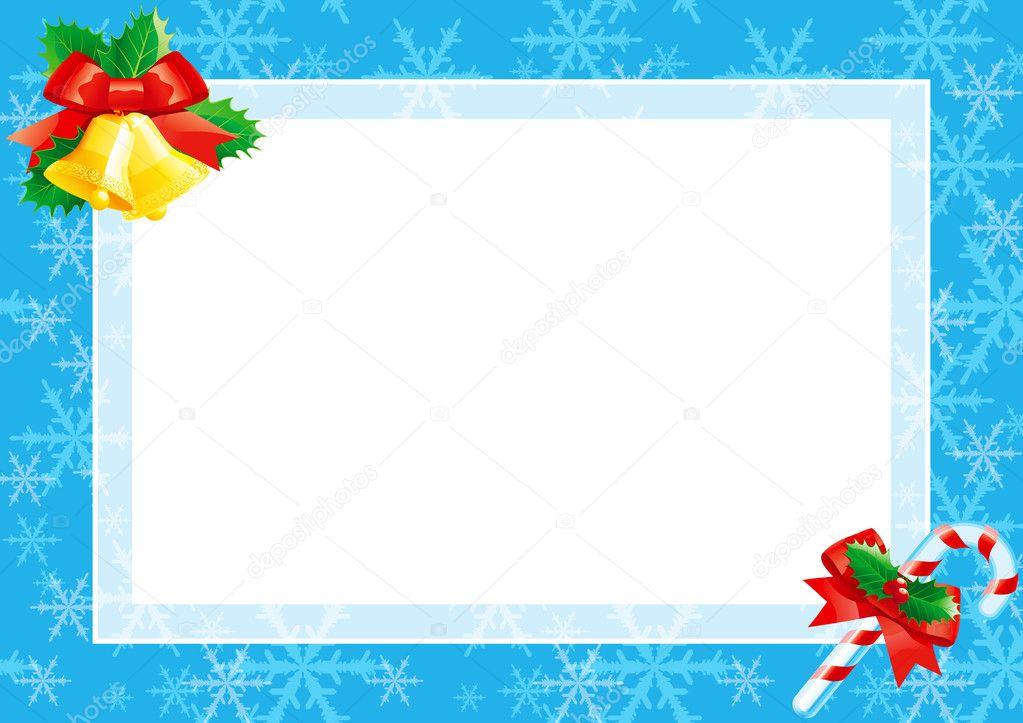 Weihnachtskarte mit leer leer für text — Stockvektor © song_mi #7883407