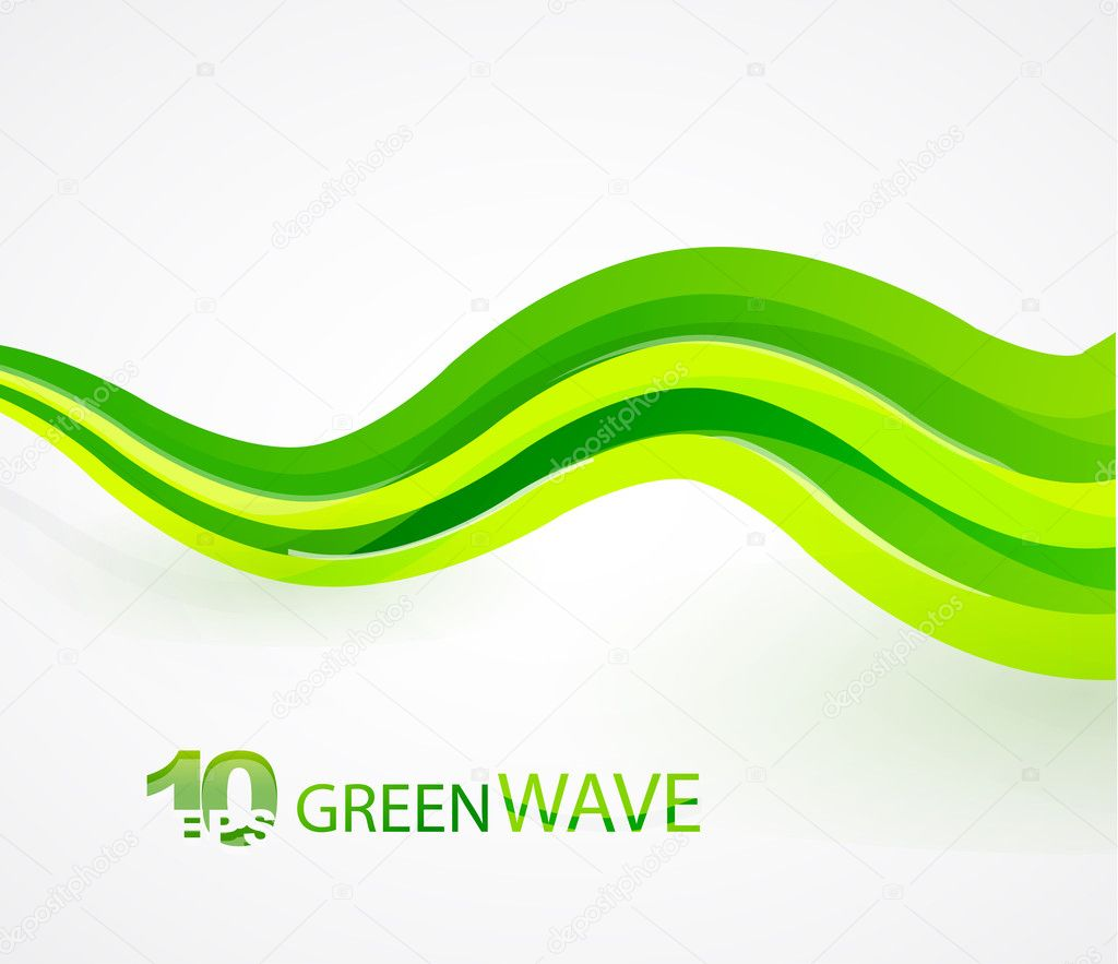 28 green waves abstract - photo #13