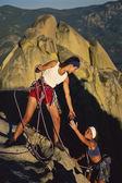 dívčí rocková horolezecké tým