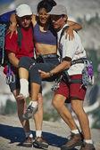 zraněné horolezec zachráněn.