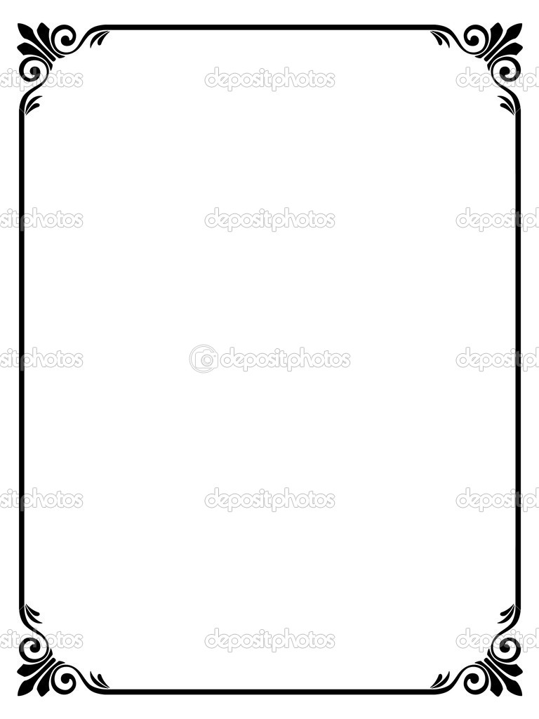 simple ornamental decorative frame stock vector 7200185