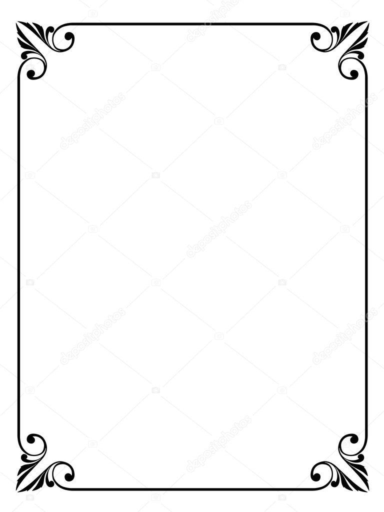 シンプルな装飾的な装飾的なフレーム — ストックベクター © 100ker #7200188