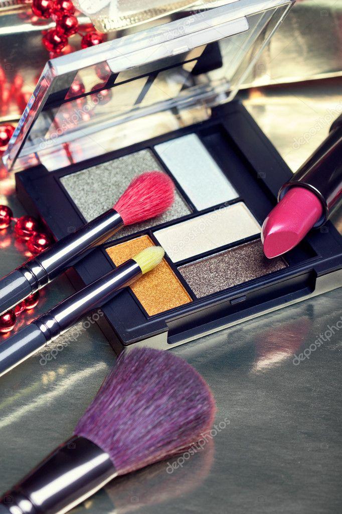 Cosmetics for Christmas night makeup