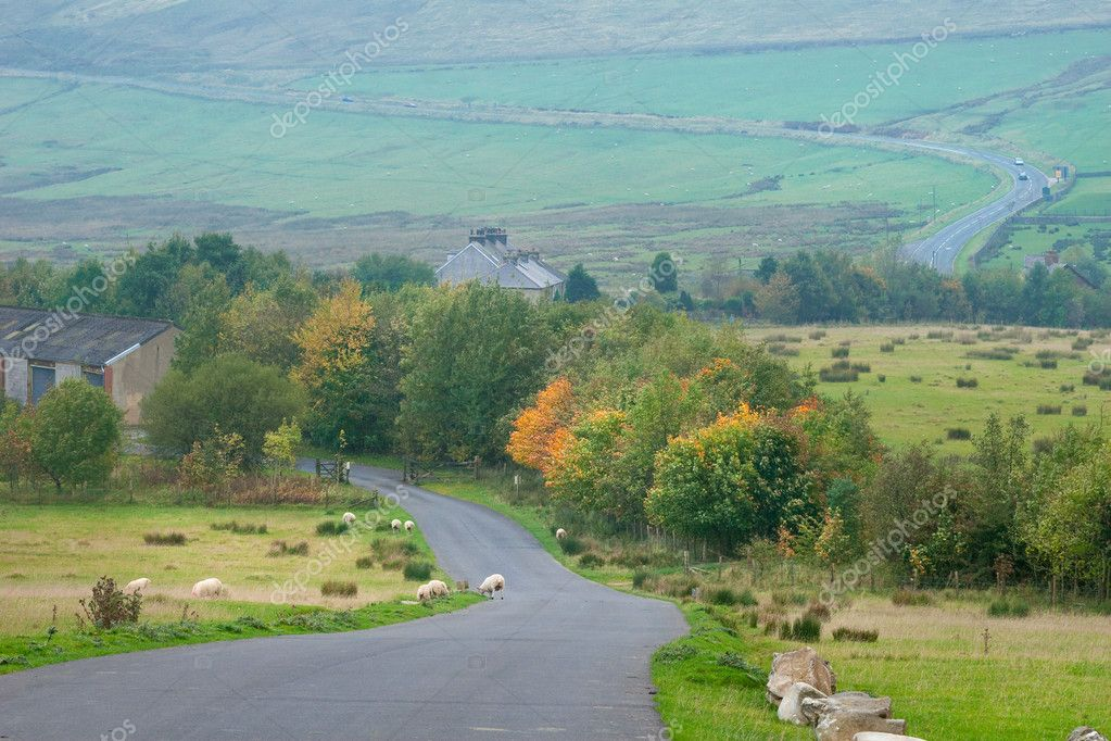 Countryside landscape in Peak District, UK