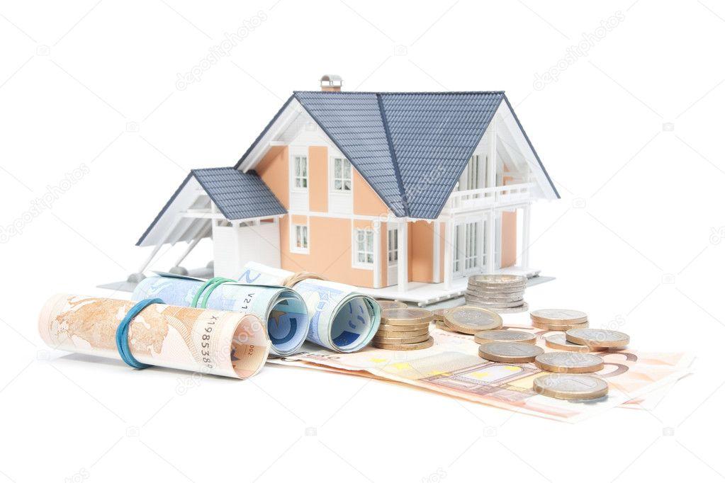 Finanzas de la casa - casa y dinero — Foto de stock © Jirsak #6986489
