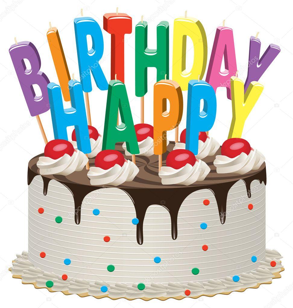 Birthday cake — Stock Vector © dmstudio #6870538