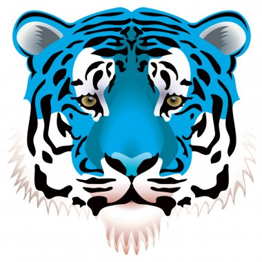 Blue tiger head