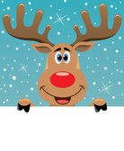 Photo Rudolph deer holding blank paper