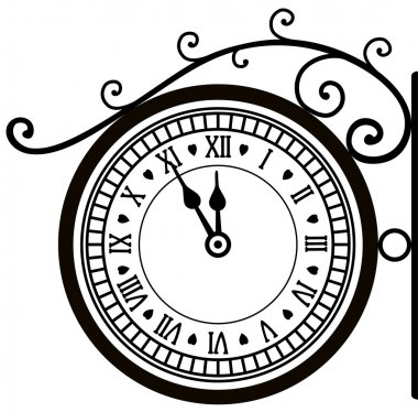Vector retro street clock