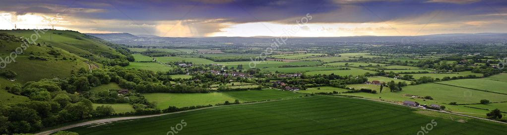 Beautiful English countryside landscape