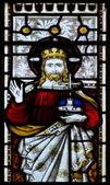 Krásné mozaikové okno detail v 15 století saské chur