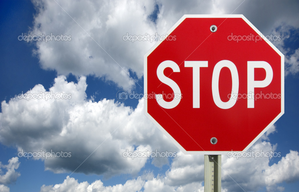 Stop sign, isolated