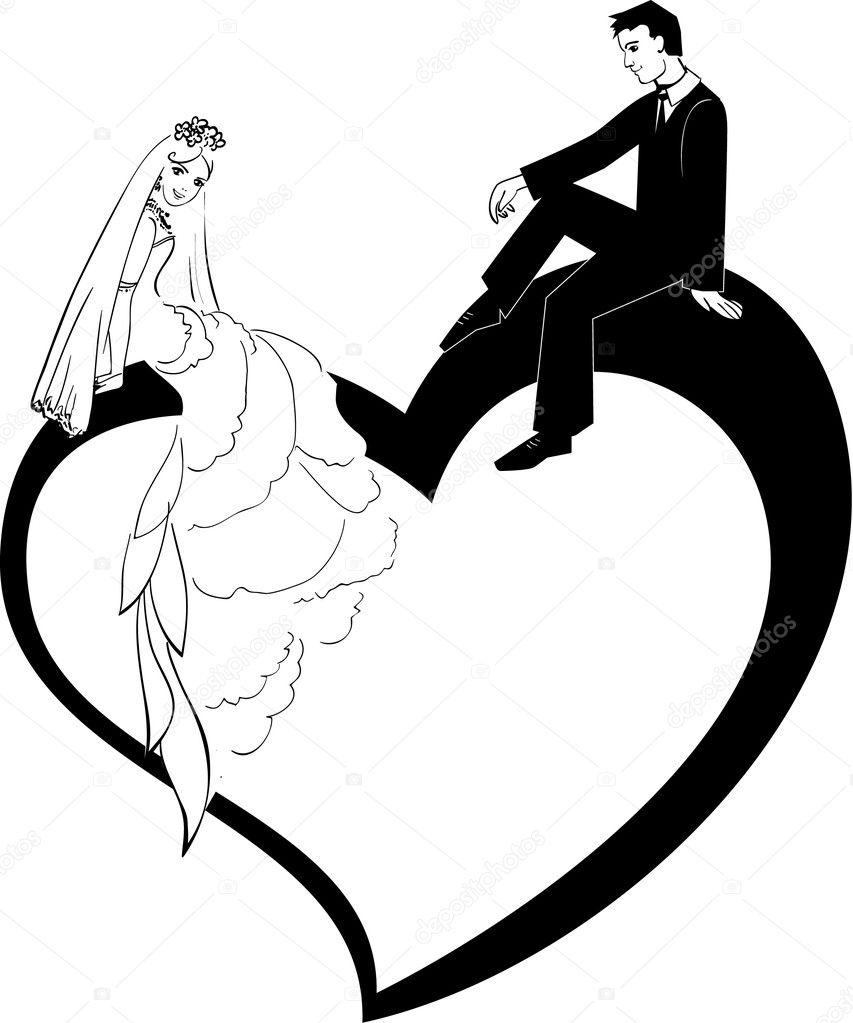 Wedding Couple Stock Vector C In 2 Eternity 7272445