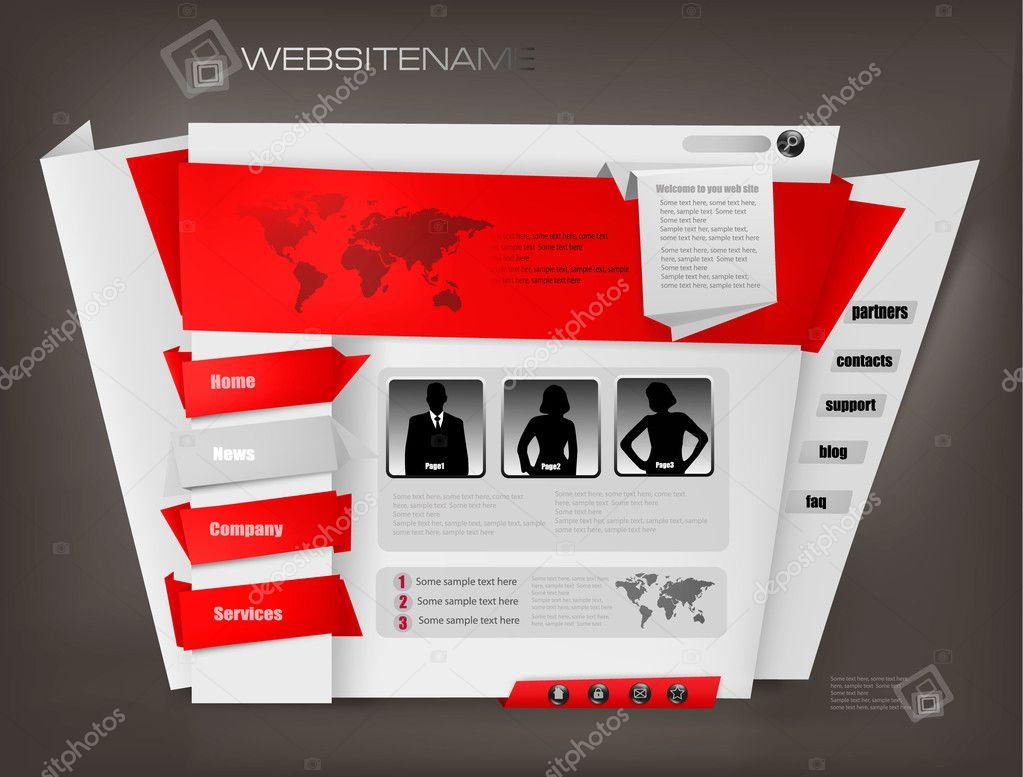 conjunto de plantillas de diseño de sitio web empresarial ...