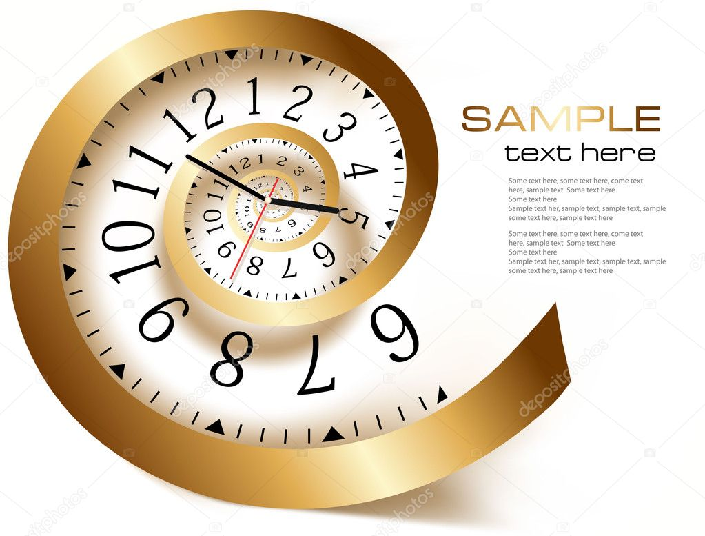 Abstract background with infinity time.