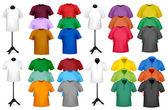 Šablona návrhu barevné tričko. vektorové ilustrace