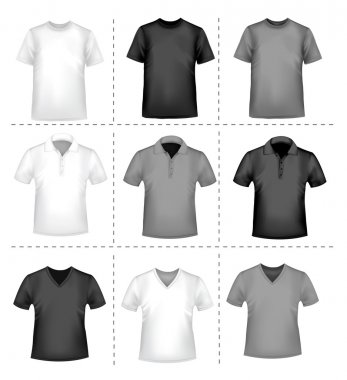T-shirt design template. Vector illustration.