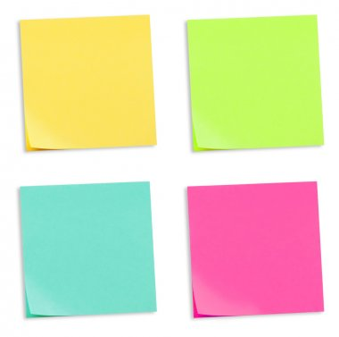 Set of colorful sticky memo notes