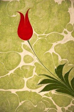 Ottoman Turkish Style Tulip Artwork