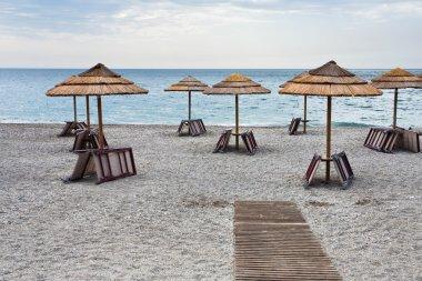 Empty Ionian sea beach