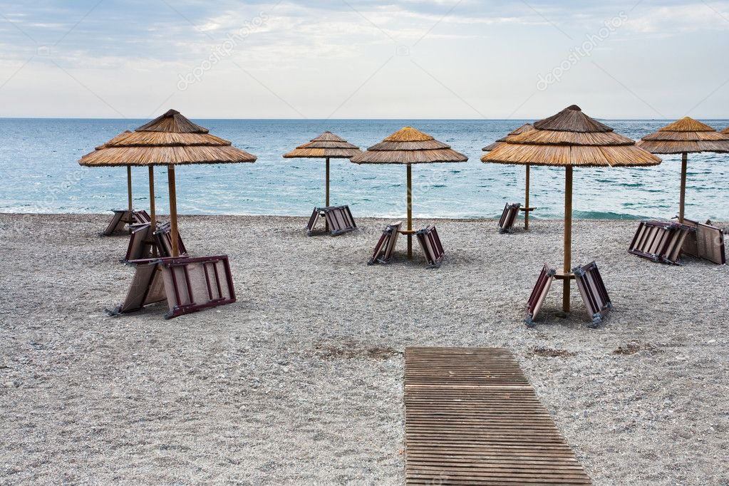 Empty Ionian sea beach