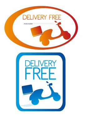 delivery free stickers