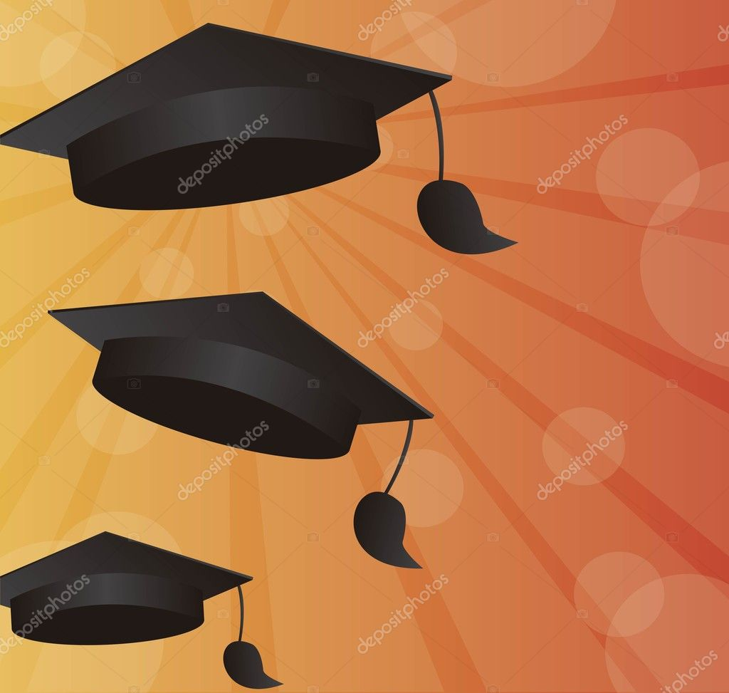 Graduation background — Stock Vector © grgroupstock #7151141
