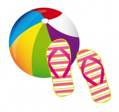 beachball and flip flops