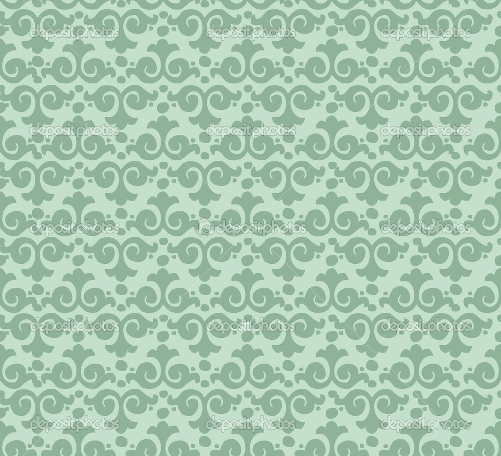 Seamless Pattern Wallpaper In Vintage Style Stock Vector