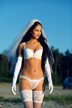 Sexy bride in lingerie
