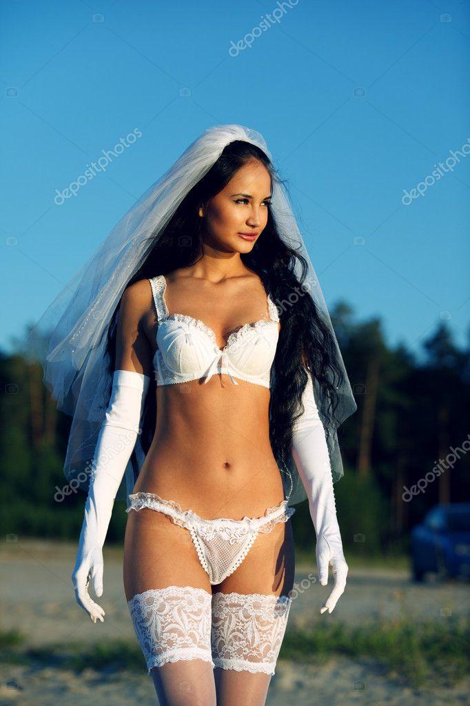 Sexy bride in lingerie