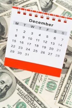 Calendar and dollar