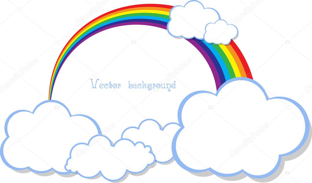 Cloud rainbow vector